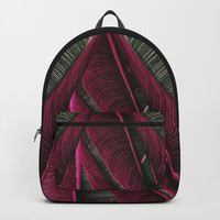 Hawaiian Pink Plumeria Backpacks by lostanaw