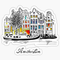 'Postcards from Amsterdam / Typography' Sticker by koivo