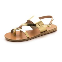 Ancient Greek Sandals Alethea Metallic Sandals