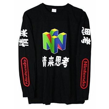ca auguau N64 Japanese Long Sleeve T-Shirt