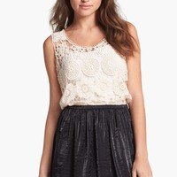 Frenchi® Shiny Skater Skirt (Juniors) | Nordstrom