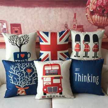 Keep Calm and Love London NYC Paris Rome Tokyo Sydney Hong Kong Country Theme Throw Cushion Covers (16 Designs)