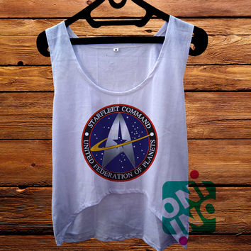 Star Trek Star Fleet Logo Crop Tank Women's Cropped Tank Top
