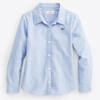 Girls Long-Sleeve Oxford Shirt