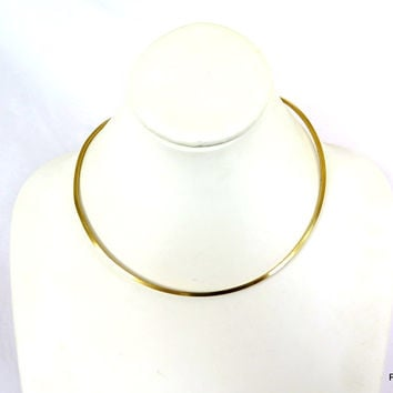 Gold square wire neck piece and pendant holder
