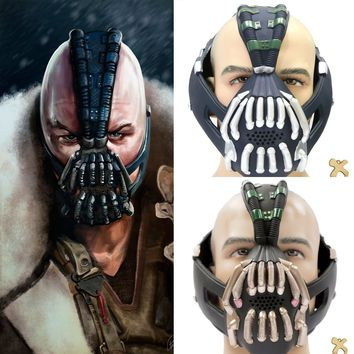 Batman Bane Cosplay Costume Silver Bronze Latex Adult Mask - Free Shipping