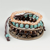 Full Tilt Bead & Bangle Bracelet Set Brown One Size For Women 17295940001