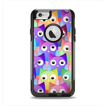 The Multicolored Shy Owls Pattern Apple iPhone 6 Otterbox Commuter Case Skin Set