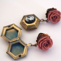 4g 5mm Locket Dangle Girly Plugs Stretched Ears by Glamsquared