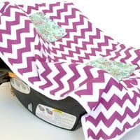 Car Seat Cooler for Infants, Baby, and Toddler, Chevron, Purple, Paisley, Plum
