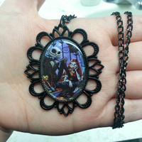 The Nightmare Before Christmas - Jack and Sally - Photo Pendant - Style 1