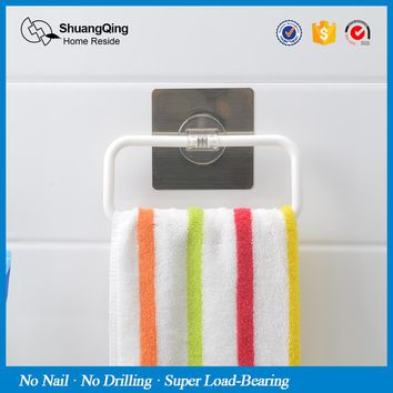 plastic towel holder kitchen bathroom wall mounted paper holder towel rack towel bar rag holder