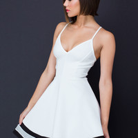 Double Varsity Stripe Skater Dress GoJane.com