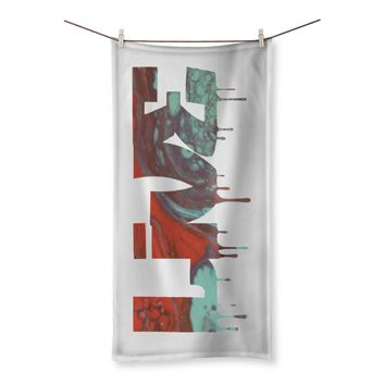 """""""Live"""" Art Inspired Beach Towel made in USA"""