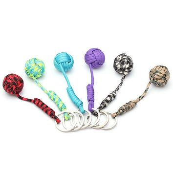 NEW Safurance Durable Mini Ball Emergency Self Protection Lanyard Survival Key Chain Fragrance Color Random
