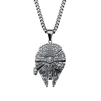 Star Wars Millennium Falcon Pendant Stainless Steel Necklace