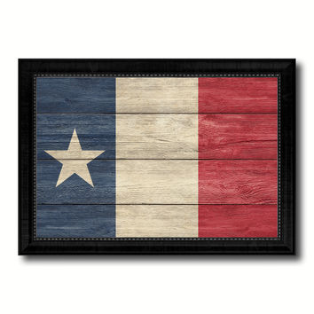 Texas Dodsons Historical Military Flag Texture Canvas Print with Black Picture Frame Gift Ideas Home Decor Wall Art