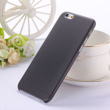 Translucent Slim Soft Plastic 0.3mm Ultra Thin Matte Black Phone Case Cover Skin for iPhone 6 6s