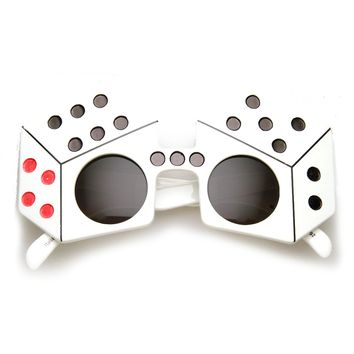Dice Shape Craps Las Vegas Party Celebration Novelty Sunglasses
