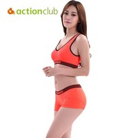Actionclub Running Shorts With Sports Bra Tank Yoga Clothing Suits Fitness Clothing Vest Tracksuit Set Sportswear Workout SY108