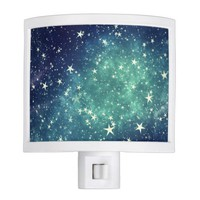 Green Starry Abstract Night Light