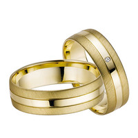 14k Gold Diamonds Wedding Band Set