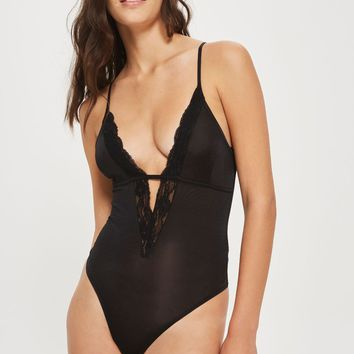 Plunge Lace Body | Topshop