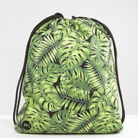 Mi-Pac Kit Bag Tropical Leaf Print at asos.com