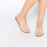 Pieces Evey Suede Two Part Flat Sandals