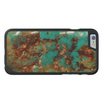 Natural Turquoise V5 Carved® Maple iPhone 6 Slim Case