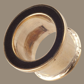 Brass Plug with Black Resin in sizes 8mm , 10mm , 12mm , 14mm , 16mm , 18mm and 20mm
