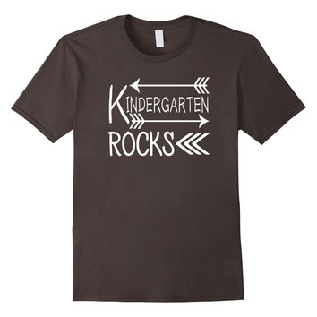 Kindergarten Rocks Teacher Tshirt Womens Mens Unisex
