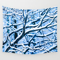 White Christmas Wall Tapestry by Digital2real
