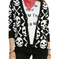 Skull and Crossbones Cardigan