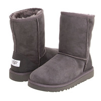 UGG Kids Classic (Little Kid/Big Kid) Grey - Zappos.com Free Shipping BOTH Ways