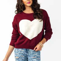 UR-So-Love-Sweater BLACKWHITE BURGWHITE WHITERED - GoJane.com