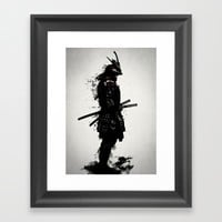 Armored Samurai Framed Art Print by Nicklas Gustafsson