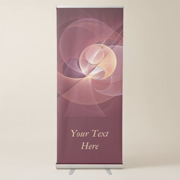 Movement Abstract Modern Wine Red Pink Art Text Retractable Banner