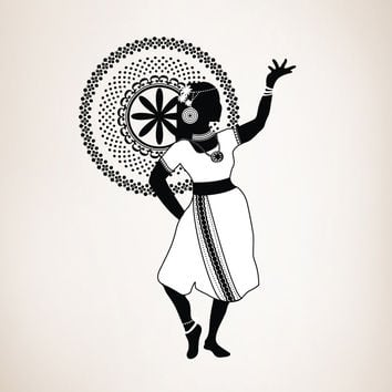 Vinyl Wall Decal Sticker Dancing Indian Girl #OS_DC143