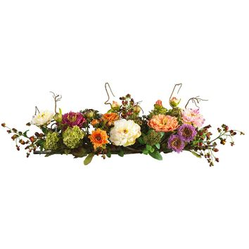 Artificial Flowers -Mixed Peony Centerpiece Flower Arrangement Silk Flowers