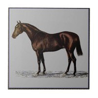 Brown Horse Ceramic Tile