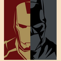 Superhero Consultants - Iron Man and Batman Art Print by Franchie