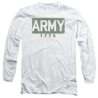 ARMY/BLOCK-L/S ADULT 18/1-WHITE-2X