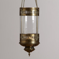 Luce Clear Hanging Lantern Candleholder