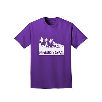 Florida Love - Palm Trees Cutout Design Adult Dark T-Shirt by TooLoud