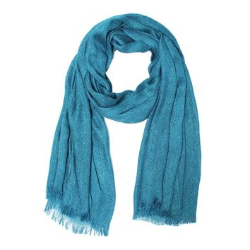 Blue Metallic Sparkle Lighweight Evening Wrap Shawl Scarf