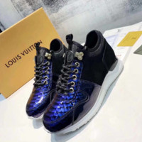 Bling Bling LV LOUIS VUITTON Leather Shoes Sneaker
