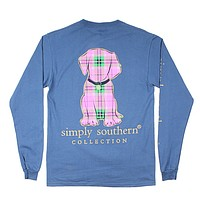 Preppy Puppy Tee in Moonrise by Simply Southern
