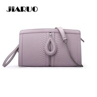 JIARUO Brand Serpentine Split Leather Crossbody Envelope Bag Women Shoulder Messenger Bag Handbag Purse Clutch Bags