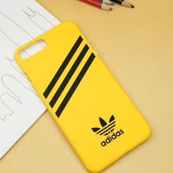 PEAPDQ7 Yellow Adidas Print  Sports Cover Case For Iphone 7 7 Plus & 6 6s Plus & 5s se